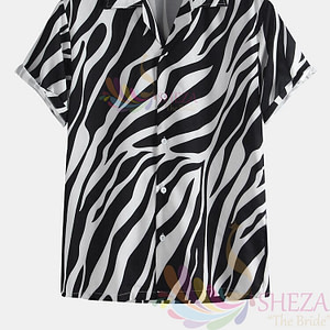 Men's Trendy Wave Pattern Shirt