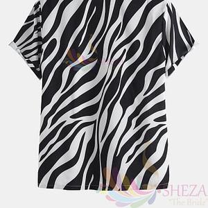 Men's Trendy Wave Pattern Shirt_1