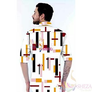 Men's Trendy Silk Blend Long Sleeve Shirt_1