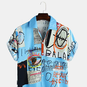 Men's Trendy Graffiti Special Shirt