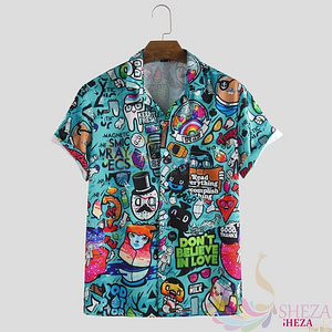 Men's Trendy Graffiti Shirt