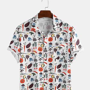 Men's Trendy Veggy Print Shirt