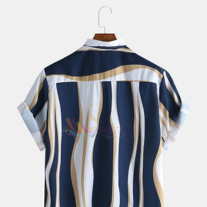 Men's Trendy Striped Shirt_1