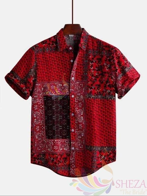Men's Polycotton Half Sleeve Shirt