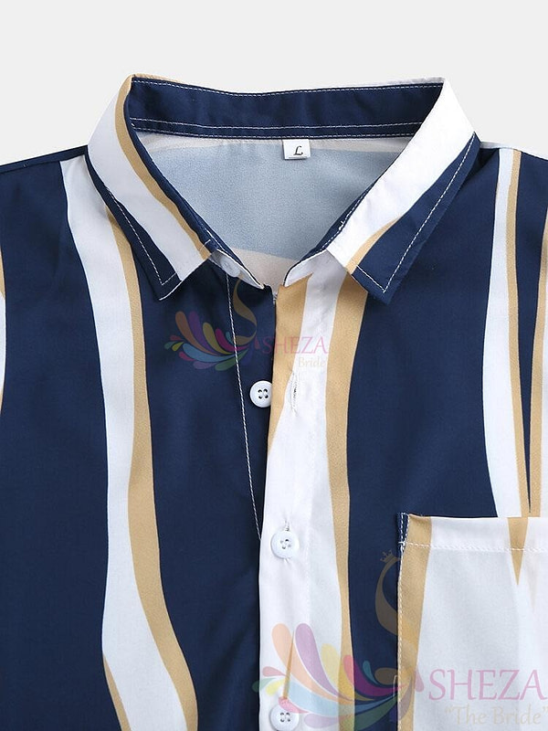Men's Trendy Striped Shirt_7