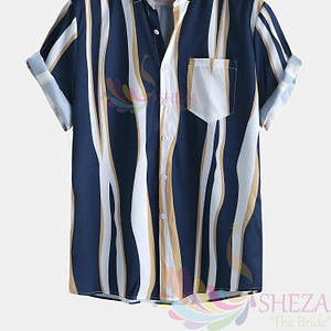 Men's Trendy Striped Shirt