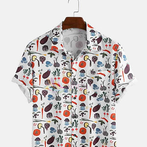 Men's Trendy Veggy Print Shirt