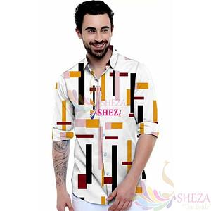 Men's Trendy Silk Blend Long Sleeve Shirt