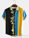 Men's Trendy Floral Pattern Shirt.
